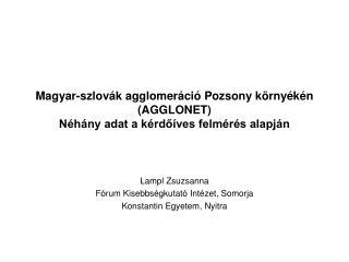 Lampl Zsuzsanna Fórum Kisebbségkutató Intézet, Somorja Konstantin Egyetem, Nyitra