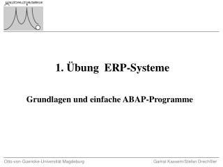1. Übung  ERP-Systeme