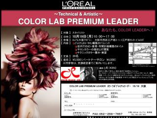 ~ Technical & Artistic ~  COLOR LAB PREMIUM LEADER