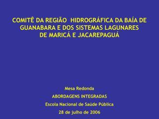 ANTECEDENTES: Em 1997 o FNMA financia  3 projetos para o IBG: Gente do Caceribu