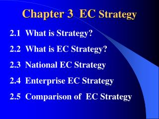 Chapter 3  EC  Strategy