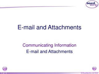 E-mail and Attachments