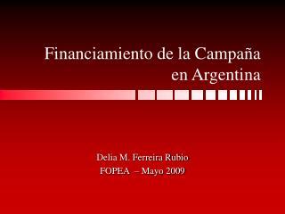 Financiamiento de la Campaña en Argentina