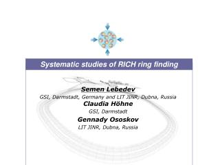 Systematic studies of RICH ring finding
