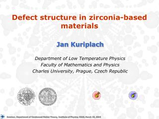 Defect structure in zirconia-based materials