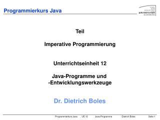 Programmierkurs Java