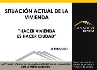 """SITUACIÓN ACTUAL DE LA VIVIENDA """" HACER VIVIENDA  ES HACER CIUDAD"""""""