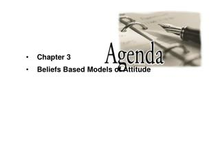 Chapter 3 Beliefs Based Models of Attitude