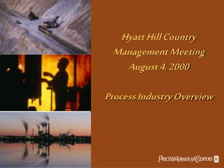 Hyatt Hill Country Management Meeting August 4, 2000 Process Industry Overview