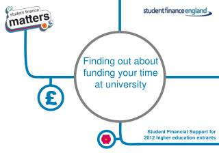 Student Financial Support for 2012 higher education entrants