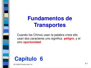 Fundamentos de Transportes
