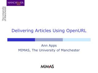 Delivering Articles Using OpenURL