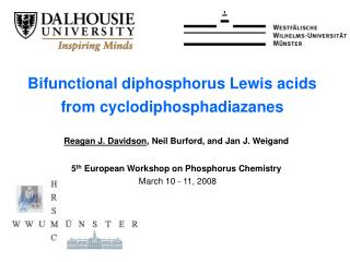 Bifunctional diphosphorus Lewis acids from cyclodiphosphadiazanes