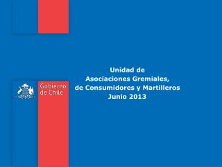 Unidad de  Asociaciones Gremiales,  de Consumidores y Martilleros Junio 2013