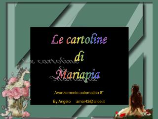 Cartoline Mariapia