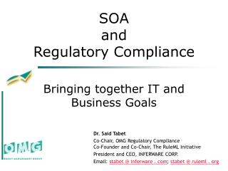 SOA  and  Regulatory Compliance