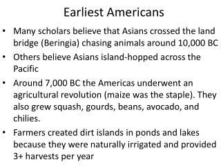 Earliest Americans