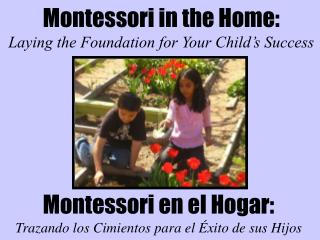 Montessori in the Home: Laying the Foundation for Your Child's Success