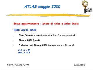 ATLAS maggio 2005
