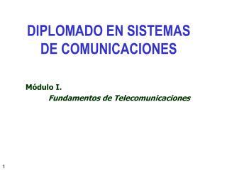 M�dulo I.  Fundamentos de Telecomunicaciones