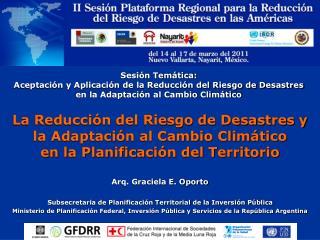 Arq. Graciela E. Oporto  Subsecretaria de Planificación Territorial de la Inversión Pública