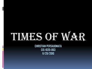 Christian  Persaudmata CIS-1020-063 11/29/2010