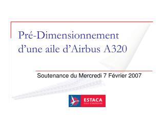 Pré-Dimensionnement  d'une aile d'Airbus A320