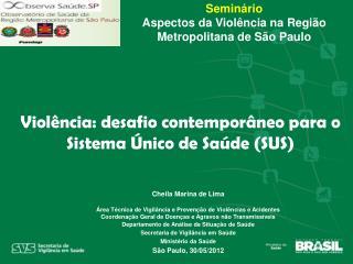 Seminário Aspectos da Violência na Região Metropolitana de São Paulo