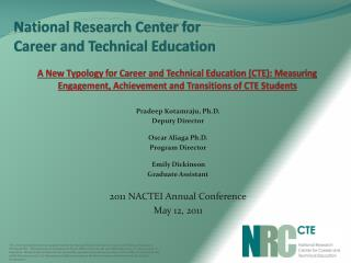 National Research Center for  Career and Technical Education