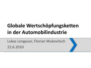 Globale Wertsch pfungsketten in der Automobilindustrie
