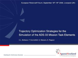 Trajectory Optimization Strategies for the Simulation of the ADS-33 Mission Task Elements