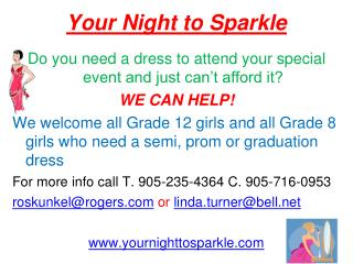 Your Night to Sparkle