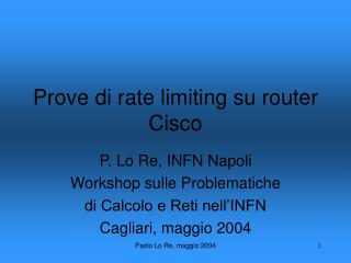 Prove di rate limiting su router Cisco