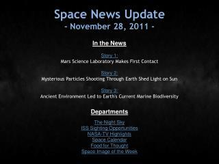 Space News Update - November 28, 2011 -