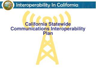 California Statewide Communications Interoperability Plan