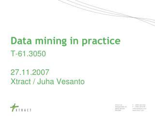 Data mining in practice