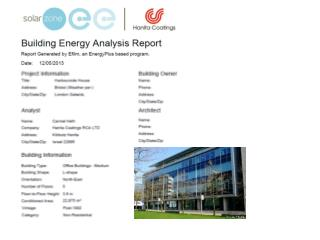 Executive Summary – In support of full Energyplus report 12/05/2013 Highlights