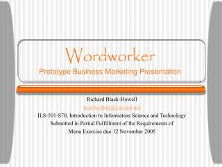 Wordworker Prototype Business Marketing Presentation