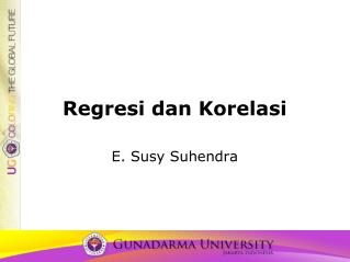 Regresi dan Korelasi