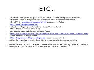 ETC …