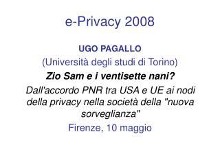e-Privacy 2008