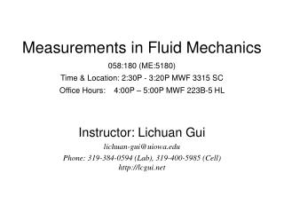 Instructor:  Lichuan Gui lichuan-gui@uiowa