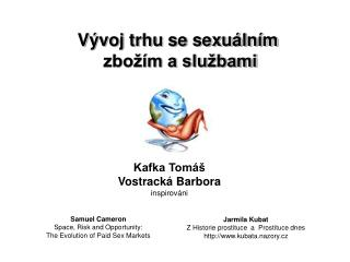 Vývoj trhu se sexuálním  zbožím a službami