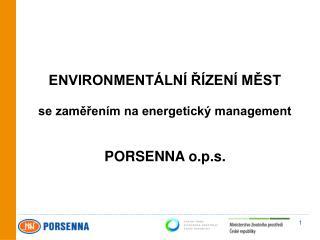 ENVIRONMENTÁLNÍ ŘÍZENÍ MĚST  se zaměřením na energetický management