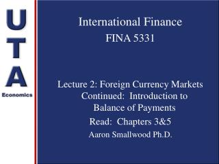 International Finance FINA 5331