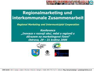 Regionalmarketing und  interkommunale Zusammenarbeit