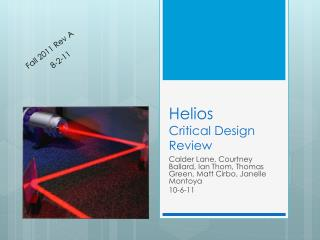 Helios Critical Design Review