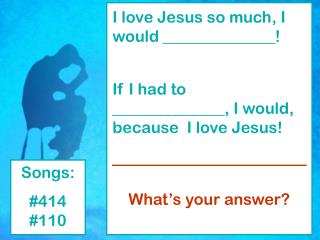 How Much Do You Love Jesus?