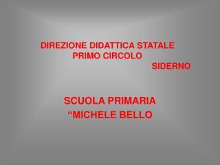 """SCUOLA PRIMARIA """"MICHELE BELLO"""
