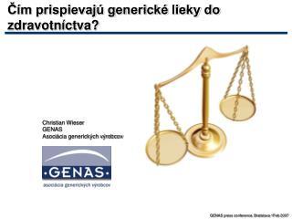 Čím prispievajú generické lieky do zdravotníctva ?